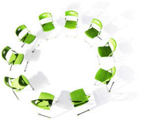 Circle of chairs that symbolises how Anatellô innovation consultancy helps organisation develop an innovation culture