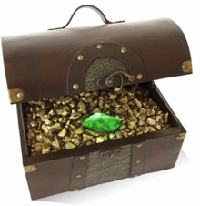 Treasure chest of gold that symbolises how Anatellô innovation consultancy helps organisations create value through innovation