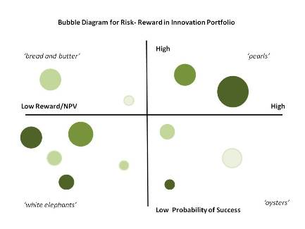 Risk Reward in Innovation Portfolio Management